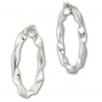 SilberDream Creole Twisted 3,8cm 925 Sterling Silber Damen Ohrring SDO67263