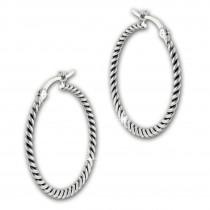 SilberDream Creole Zopfmuster 925 Sterling Silber Damen Ohrring SDO67292