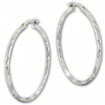 SilberDream Creole Orient 6cm 925 Sterling Silber Damen Ohrring SDO67376