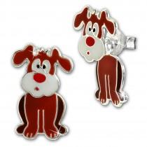 Kinder Ohrstecker Hund Dangle 925 Sterling Silber Kinderschmuck TW SDO8166N