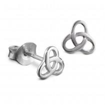 Teenie-Weenie Ohrstecker Gordischer Knoten 925 Silber Ohrring SDO8200J