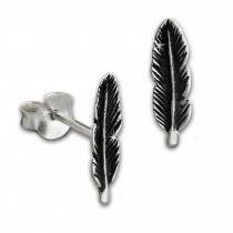 SilberDream Ohrstecker Feder 925 Sterling Silber Ohrring SDO8207J