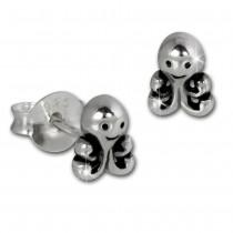 SilberDream Ohrstecker Krake 925 Sterling Silber Kinder, Damen Ohrring SDO8216J