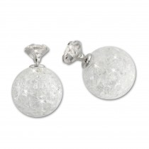 SilberDream Doppel-Ohrringe Zirkonia weiß Tribal Design 925 Silber SDO8514W