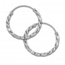 SilberDream Creole gedreht 20mm Ohrring 925 Silber SDO87122