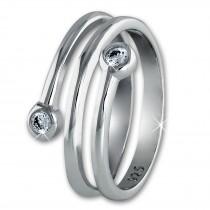 SilberDream Ring Dream Zirkonia weiß Gr.54 Sterling 925er Silber SDR406W54