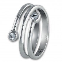 SilberDream Ring Dream Zirkonia weiß Gr.56 Sterling 925er Silber SDR406W56