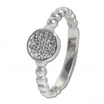 SilberDream Ring Zirkonia-Kreis weiß Gr.56 aus 925er Silber SDR408W56