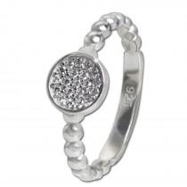 SilberDream Ring Zirkonia-Kreis weiß Gr.58 925er Silber SDR408W58