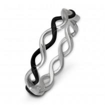 SilberDream Ring geflochten geschwärzt Gr. 56 Sterling 925er Silber SDR450S56