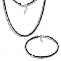 SilberDream Schmuckset gedreht geschwärzt Kette & Armband 925 Silber SDS216S