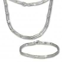 SilberDream Schmuck Set Trendy Collier & Armband 925 Silber SDS407