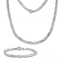 SilberDream Schmuck Set Fantasie Collier & Armband Damen 925 Silber SDS441J