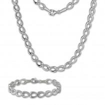 SilberDream Schmuck Set Herzform Collier & Armband Damen 925 Silber SDS446J