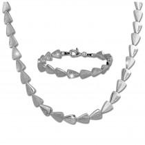 SilberDream Schmuck Set Dreiecke Zirkonia Collier & Armband Damen 925er SDS457W