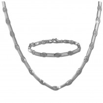 SilberDream Schmuck Set Eye Zirkonia Collier & Armband Damen 925er SDS462W