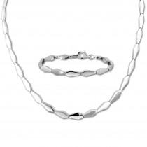 SilberDream Schmuck Set Fantasie Collier & Armband Damen 925 Silber SDS468J
