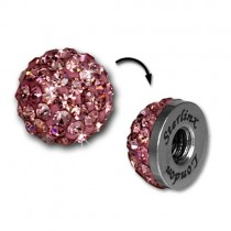 Glitzerkugel rosa für Sterlinx London Shamballa Armband SHB00A
