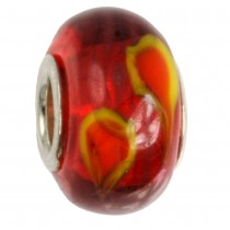 IMPPAC Glas Bead 925 Spacer Lava European Beads SMB1135