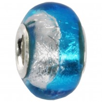 IMPPAC Glas 925 Bead Spacer Blau European Beads SMB8096
