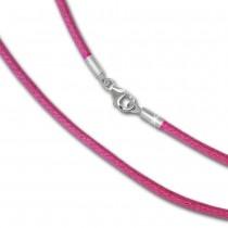 IMPPAC Textil Armband 925 pink für European Beads SML8419