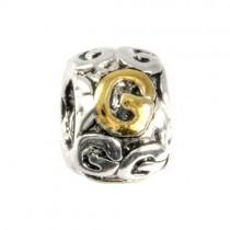 IMPPAC 925 Bead Buchstabe Kugel G European Beads SMP621G