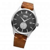 Fonderia Herren-Armbanduhr P-6A009UNS Quarz Leder-Armband braun UAP6A009UNS