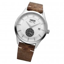 Fonderia Herren-Armbanduhr P-6A009USG Quarz Leder-Armband braun UAP6A009USG