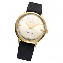 Fonderia Herren-Armbanduhr P-6G003US3 Quarz Leder-Armband schwarz UAP6G003US3