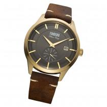 Fonderia Herren-Armbanduhr P-6G009UG1 Quarz Leder-Armband braun UAP6G009UG1