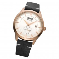 Fonderia Herren-Armbanduhr P-6R009US1 Quarz Leder-Armband schwarz UAP6R009US1