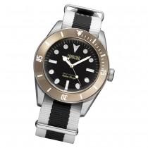 Fonderia Herren-Uhr P-8A002UNM Quarz Textil-Armband schwarz weiß UAP8A002UNM