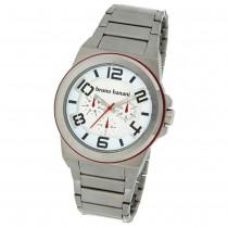 Bruno Banani Herren Uhr silber-rot Zelos Uhren Kollektion UBR21123