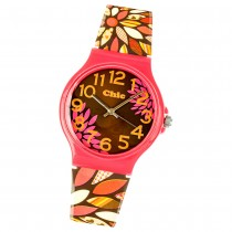 Chic-Watches Damenuhr Retro Flowers Armbanduhr Chic Lady-Uhren UC013