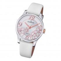 Candino Damen Armbanduhr Elegance C4720/1 Analog Leder weiß UC4720/1