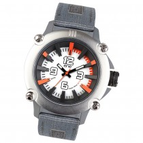Ene Watch Modell 110 steel/orange, 51mm, Nylon-Armband UE72401