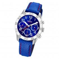 Festina Kinder Armbanduhr Junior Collection F20346/2 Leder/PU blau UF20346/2