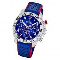 Festina Kinder Armbanduhr Junior Collection F20458/2 Quarz Leder blau UF20458/2