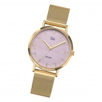 Girl Only Damen Armbanduhr GO 695334 Analog Quarz Uhr Edelstahl gold UGO695334
