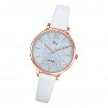 Girl Only Damen Armbanduhr GO 699210 Analog Quarz Uhr Leder weiß UGO699210