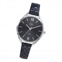 Girl Only Damen Armbanduhr GO 699270 Analog Quarz Uhr Leder schwarz UGO699270