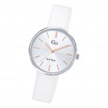 Girl Only Damen Armbanduhr GO 699313 Analog Quarz Uhr Leder weiß UGO699313