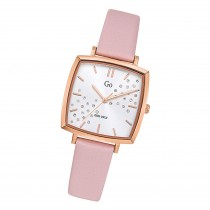 Girl Only Damen Armbanduhr GO 699343 Analog Quarz Uhr Leder rosa UGO699343