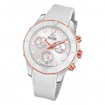 Jaguar Damen Armbanduhr Cosmopolitan J890/1 Chronograph Leder weiß UJ890/1