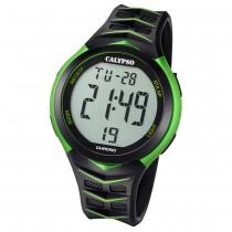 Calypso Armbanduhr Herren Digital for Man K5730/4 Quarz PU schwarz grün UK5730/4