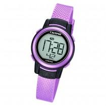 Calypso Kinder Armbanduhr Digital Crush K5736/4 Quarz-Uhr PU lila UK5736/4