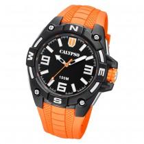 Calypso Herren Armbanduhr Street Style K5761/3 Quarz-Uhr PU orange UK5761/3