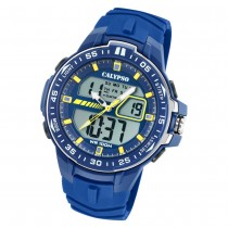 Calypso Herren Armbanduhr Street Style K5766/1 Quarz-Uhr PU blau UK5766/1