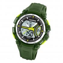 Calypso Herren Jugend Armbanduhr K5779/4 Analog-Digital Kunststoff grün UK5779/4
