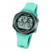 Calypso Damen Herren Armbanduhr K5799/4 Digital Kunststoff türkis UK5799/4